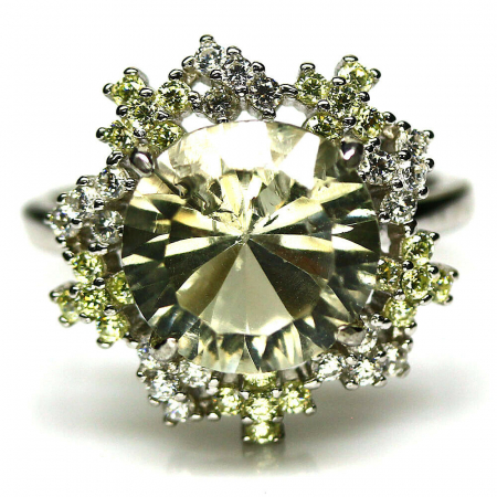 Inel argint ametist verde [0]