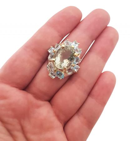 Inel argint ametist verde [3]