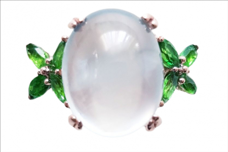 Inel Argint cu prehnit [0]