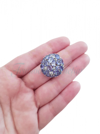 Inel argint cu tanzanit [2]