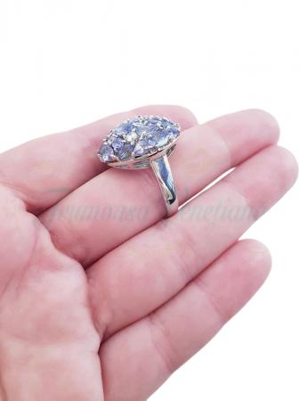 Inel argint cu tanzanit [4]
