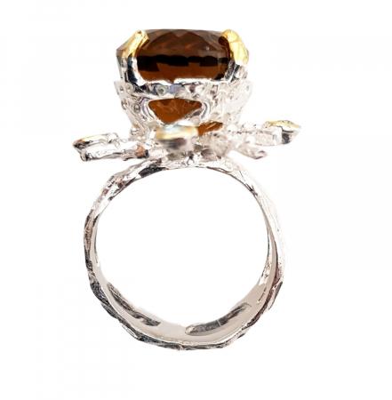 Inel argint cuart coniac [1]
