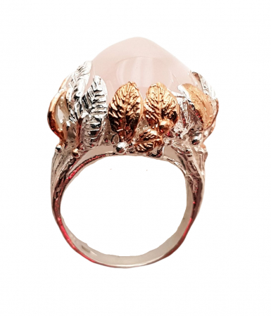 Inel argint cuart roz [1]