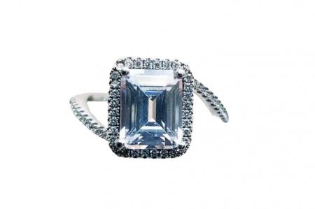 Inel argint cubic zirconia [0]