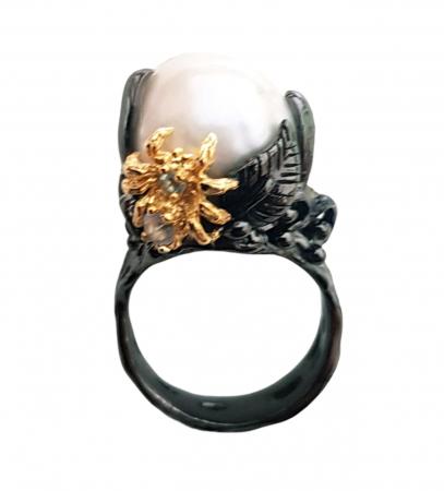 Inel argint perla baroca [1]