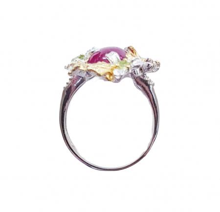 Inel argint rubin [1]