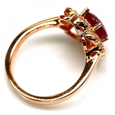 Inel argint rubin [2]