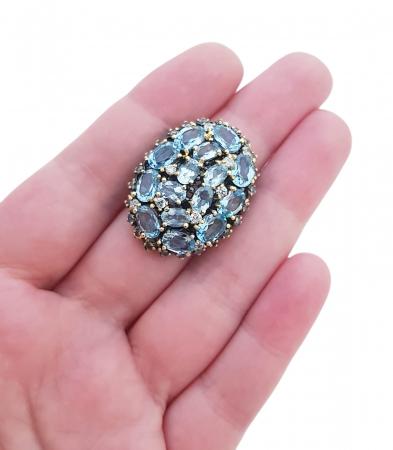 Inel argint topaz [3]