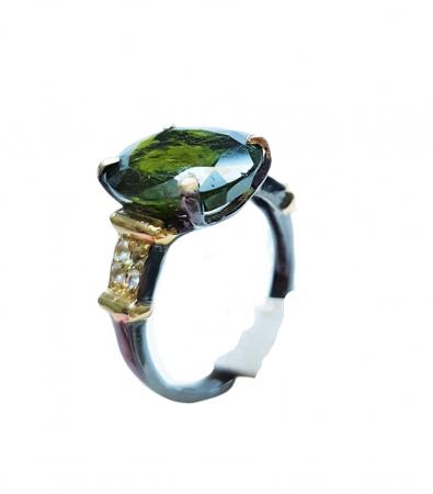 Inel argint turmalina [2]
