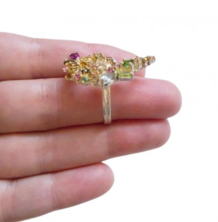 Inel argint turmaline multicolore [4]