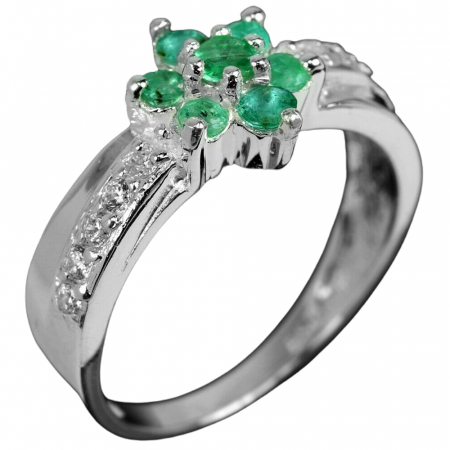 Inel argint smarald [0]