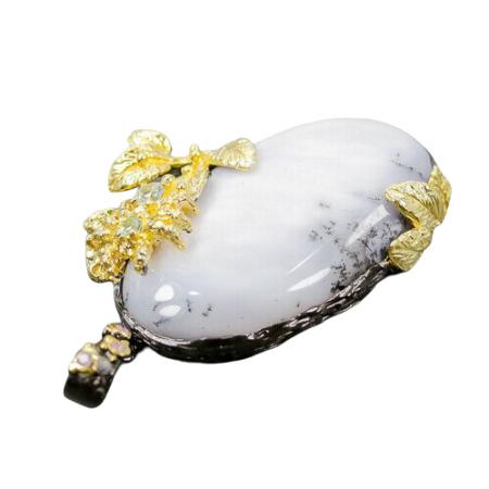 Pandantiv argint opal dendritic [1]
