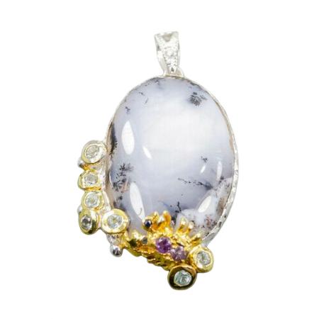 Pandantiv argint opal dendritic [0]