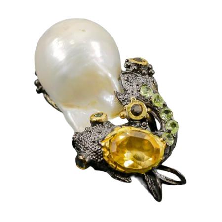 Pandant argint perla baroca [1]