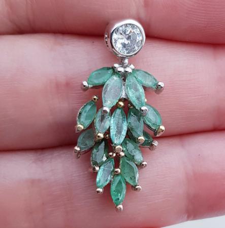 Pandant argint smarald [2]