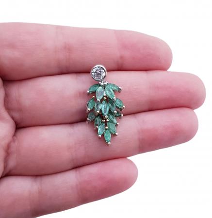 Pandant argint smarald [3]