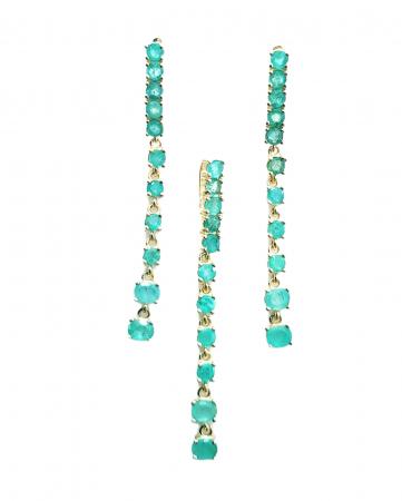 Set argint smarald [0]