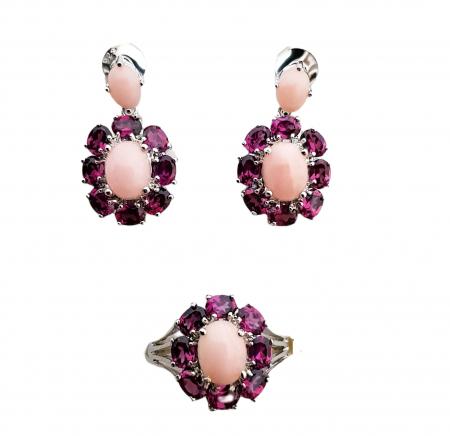 Set argint opal roz [0]