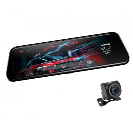 "CAMERA VIDEO AUTO TIP OGLINDA DUBLA, ANYTEK T12+, DISPLAY 9.66"" TOUCH SCREEN, NIGHT VISION, DASH CAM, DUAL LENS 6"