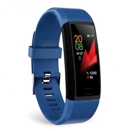 "Bratara Fitness Smartband Techstar® T12 Waterproof IP65, Bluetooth 4.2, Compatibila Android & IOS, Display TFT 1.14"", Albastru [0]"