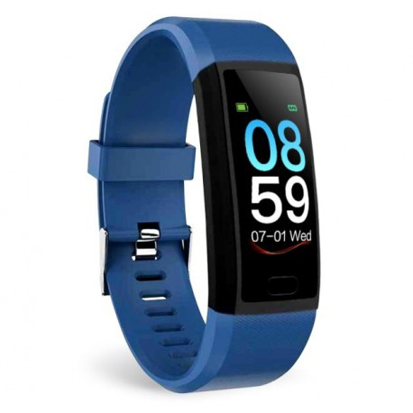 "Bratara Fitness Smartband Techstar® T12 Waterproof IP65, Bluetooth 4.2, Compatibila Android & IOS, Display TFT 1.14"", Albastru [3]"