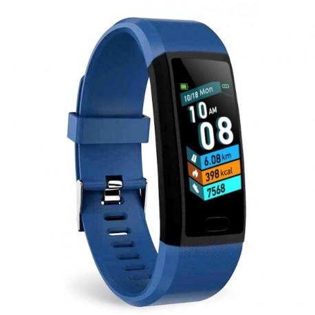 "Bratara Fitness Smartband Techstar® T12 Waterproof IP65, Bluetooth 4.2, Compatibila Android & IOS, Display TFT 1.14"", Albastru [1]"