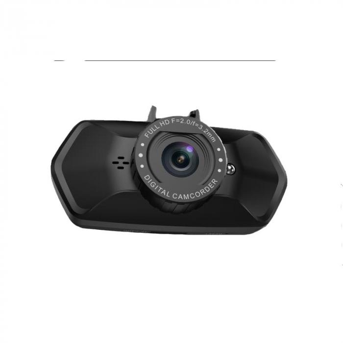 "Camera Video Auto Dubla, Obiectiv 120° Superangular FullHD 1080p Techstar® RLDV 204, Ecran 2"" 4"