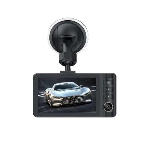 Camera Auto DVR RLDV-363 Techstar® FullHD 1080P 12 MPX DISPLAY IPS 3.2 INCH Lentila Dubla Interior/Exterior [1]