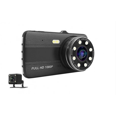 CAMERA VIDEO AUTO NOVATEK T800 DUBLA 8 LED-URI INFRAROSU FULL HD 1
