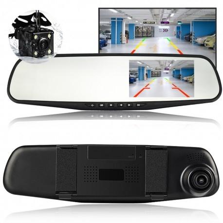 CAMERA VIDEO AUTO TIP OGLINDA CU DOUA CAMERE FULL HD FATA/SPATE ALLWINNER L9000 1