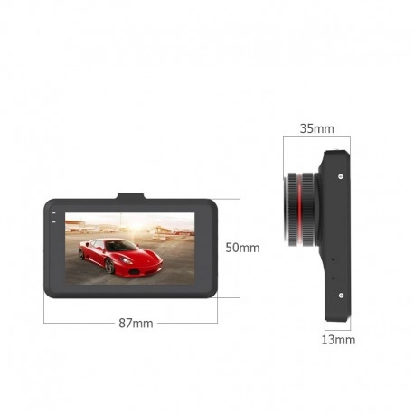 CAMERA VIDEO AUTO T619 FULLHD 3MP CU CARCASA METALICA SI DESIGN SLIM 2
