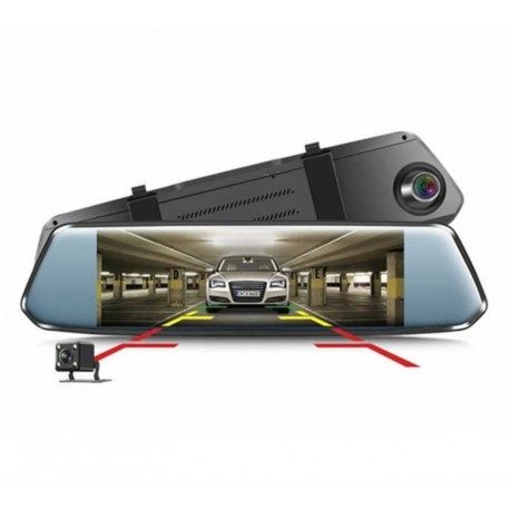 "CAMERA VIDEO AUTO TIP OGLINDA DVR TECHSTAR® 7"" FULLHD 1080P, DUALLENS CU MARSARIER SI TOUCHSCREEN 1"