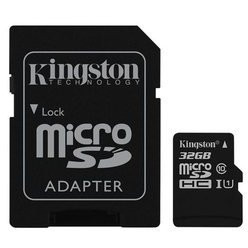 Card de Memorie Kingston Canvas Select microSDHC 32GB + Adaptor SD 0