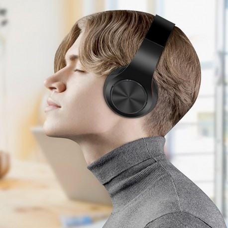 CASTI BLUETOOTH WIRELESS W802 NEGRU OVER EAR PLIABILE SPORT CU MICROFON INCORPORAT 4