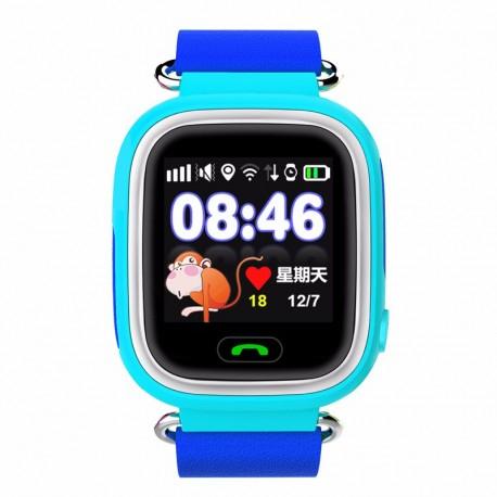 Ceas Smartwatch Pentru Copii Albastru Q90 Slot Cartela SIM, GPS Tracker, Buton Urgenta SOS, Monitorizare Live 0