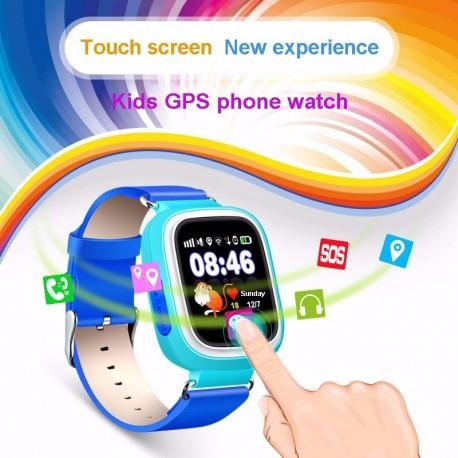 Ceas Smartwatch Pentru Copii Albastru Q90 Slot Cartela SIM, GPS Tracker, Buton Urgenta SOS, Monitorizare Live 5