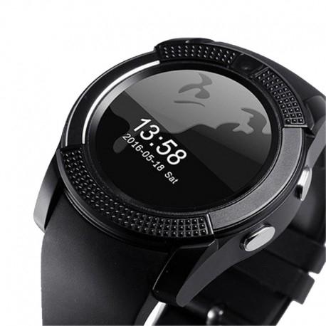 Ceas Smartwatch V8 Negru HandsFree Bluetooth 3.0 Micro SIM Android Camera 1.3MP 0