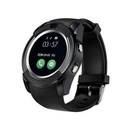 Ceas Smartwatch V8 Negru HandsFree Bluetooth 3.0 Micro SIM Android Camera 1.3MP 1