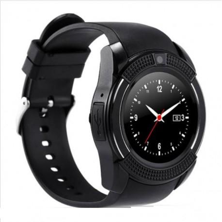 Ceas Smartwatch V8 Negru HandsFree Bluetooth 3.0 Micro SIM Android Camera 1.3MP 2