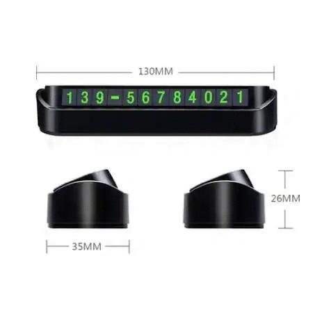 Placuta Numar Telefon cu Cifre Magnetice, pentru Parcarea Temporara, Negru [1]