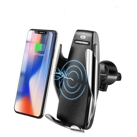 Suport Incarcator Telefon Auto Smart  S5 Wireless InfraRosu 360° Fast Charge Universal Android si iOS 4 - 6.5 inch 0