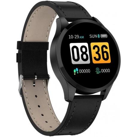 Ceas Smartwatch Techstar® Q9, Bluetooth 4.0, Waterproof IP65, IPS Touch HD, Potrivit Fitness, Android, IOS, Negru 5