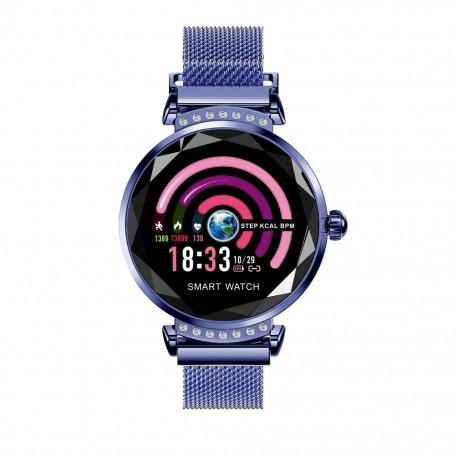Smartwatch Fitness Sport Albastru Elegant Pentru Dama Techstar® H2 Cu Monitorizare Somn Si Cardiaca 0