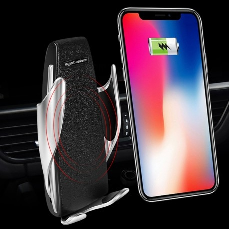 SUPORT INCARCATOR TELEFON AUTO SMART TECHSTAR® S5 WIRELESS INFRAROSU 360° FAST CHARGE UNIVERSAL ANDROID SI IOS 4 - 6.5 INCH [2]
