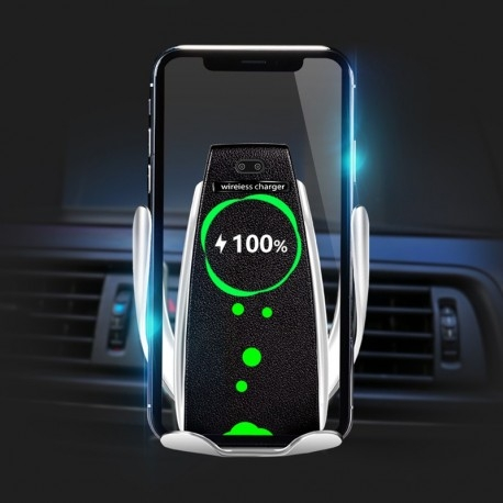 SUPORT INCARCATOR TELEFON AUTO SMART TECHSTAR® S5 WIRELESS INFRAROSU 360° FAST CHARGE UNIVERSAL ANDROID SI IOS 4 - 6.5 INCH [4]