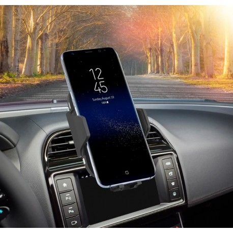 SUPORT INCARCATOR TELEFON AUTO SMART WIRELESS TECHSTAR® C10 TEHNOLOGIE INFRAROSU QI QUICKCHARGE 3.0 10W ANDROID IOS 9