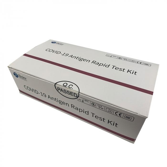 KIT test rapid COVID-19 antigen (set 5 buc) + 1 cutie masti medicale 3 straturi tip IIR [1]