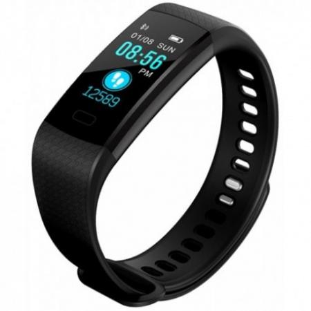 Bratara Smart Fitness Sport Y5 Negru Bluetooth 4.0 Waterproof Cu Monitorizare Somn, Cardiaca Si Pedometru0