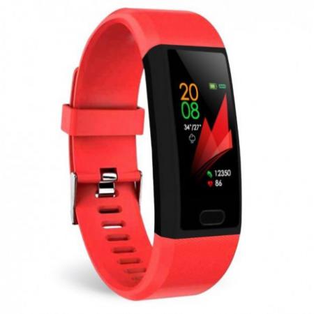 "Bratara Fitness Smartband Techstar® T12 Waterproof IP65, Bluetooth 4.2, Compatibila Android & IOS, Display TFT 1.14"", Rosu2"