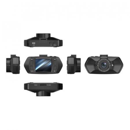 "Camera Video Auto Dubla, Obiectiv 120° Superangular FullHD 1080p Techstar® RLDV 204, Ecran 2""8"